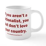 Proud Nationalist 20 oz Ceramic Mega Mug