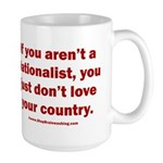 Proud Nationalist 15 oz Ceramic Large Mug