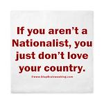Proud Nationalist Queen Duvet