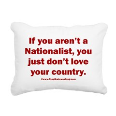 Proud Nationalist Rectangular Canvas Pillow