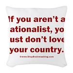 Proud Nationalist Woven Throw Pillow