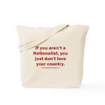 Proud Nationalist Tote Bag