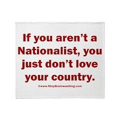 Proud Nationalist Throw Blanket