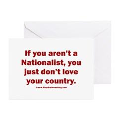 Proud Nationalist Greeting Cards (Pk of 20)