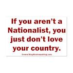 Proud Nationalist Mini Poster Print