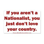 Proud Nationalist 20x12 Wall Decal