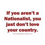 Proud Nationalist 35x21 Wall Decal