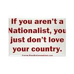 Proud Nationalist Rectangle Magnet