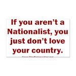 Proud Nationalist Rectangle Car Magnet