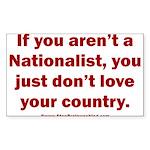 Proud Nationalist Sticker (Rectangle)