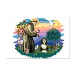 St Francis #2/ Beardie (#8) Mini Poster Print