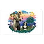 St Francis #2/ Beardie (#8) Sticker (Rectangle)