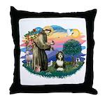 St Francis #2/ Beardie (#8) Throw Pillow