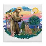 St Francis #2/ Bel Malanois Tile Coaster