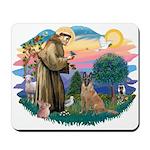 St Francis #2/ Bel Malanois Mousepad