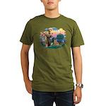 St Francis #2/ Bel Malanois Organic Men's T-Shirt