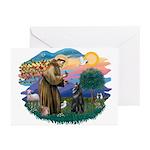 St Francis #2/ B Shepherd Greeting Cards (Pk of 20