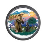 St Francis #2/ B Shepherd Wall Clock