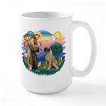 St Francis #2/ Bull Mastiff Large Mug