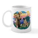 St Francis #2/ Bull Mastiff Mug