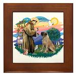 St Francis #2/ Bull Mastiff Framed Tile