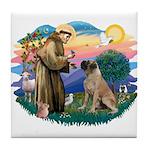 St Francis #2/ Bull Mastiff Tile Coaster
