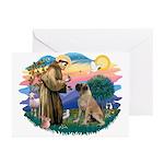 St Francis #2/ Bull Mastiff Greeting Cards (Pk of