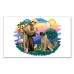 St Francis #2/ Bull Mastiff Sticker (Rectangle)