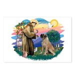 St Francis #2/ Bull Mastiff Postcards (Package of