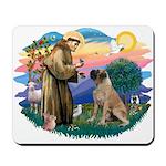 St Francis #2/ Bull Mastiff Mousepad