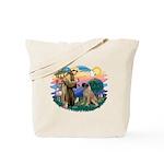 St Francis #2/ Bull Mastiff Tote Bag