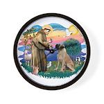 St Francis #2/ Bull Mastiff Wall Clock