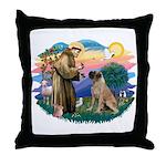 St Francis #2/ Bull Mastiff Throw Pillow