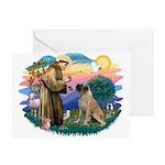 St Francis #2/ Bull Mastiff Greeting Card