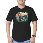 St Francis #2/ Bull Mastiff Men's Fitted T-Shirt (