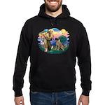 St Francis #2/ Bull Mastiff Hoodie (dark)