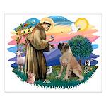 St Francis #2/ Bull Mastiff Small Poster
