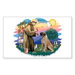 St Francis #2/ Bull Mastiff Sticker (Rectangle 10