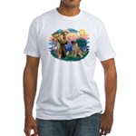 St Francis #2/ Bull Mastiff Fitted T-Shirt