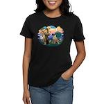 St Francis #2/ Bull Mastiff Women's Dark T-Shirt