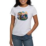 St Francis #2/ Bull Mastiff Women's T-Shirt