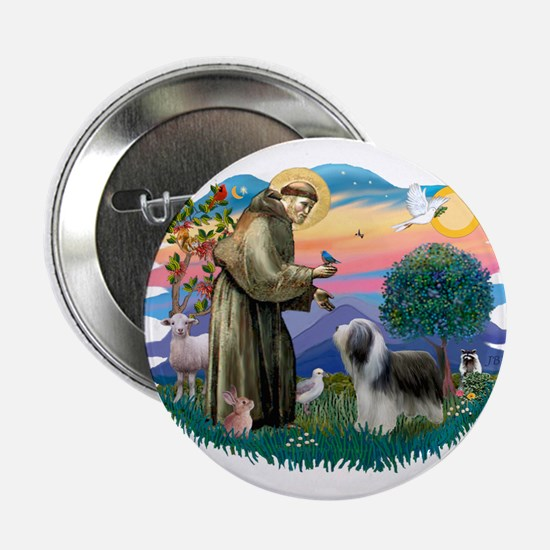"St Francis #2/ Beardie (sw) 2.25"" Button"