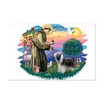 St Francis #2/ Beardie (sw) Mini Poster Print