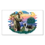 St Francis #2/ Beardie (sw) Sticker (Rectangle)
