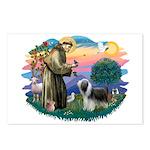 St Francis #2/ Beardie (sw) Postcards (Package of