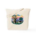 St Francis #2/ Beardie (sw) Tote Bag