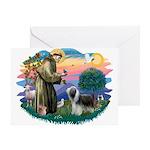 St Francis #2/ Beardie (sw) Greeting Card
