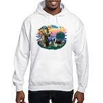 St Francis #2/ Beardie (sw) Hooded Sweatshirt