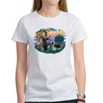 St Francis #2/ Beardie (sw) Women's T-Shirt