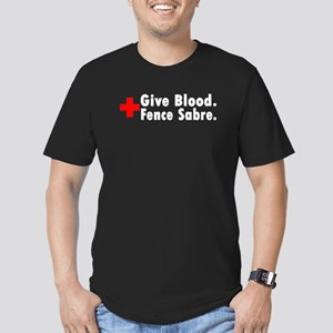 Blood Donation Men's Fitted Dark T-Shirt